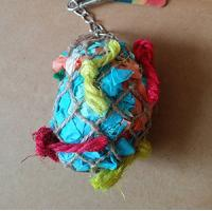 bird foraging toys super shredder ball with paper streamer inside Manufactures