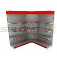 Promotional Corner Wall Mount Supermarket Display Racks Decorative Shelving Units