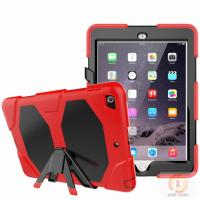 Full protective housing stand hybrid rubber kidsproof case for iPad 9.7