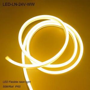 IP44 24V Waterproof 3000K flexible LED Neon lights/ LED strip Light for building Manufactures