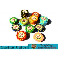 Quality 11.8g Texas Holdem Metal Casino Poker Chips Round Shape With 40mm Diameter for sale