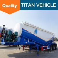 Tri-axle 60cbm 40 ton 60 ton 70 ton dry silo bulk cement bulker tank trailer for sale | TITAN VEHICLE Manufactures