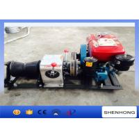 Cylindrical Shape Diesel Cable Winch Steel 1 Ton For Transmission Line Erection Manufactures