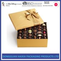 Recyclable Gift Boxes For Chocolates , Chocolate Candy Gift Boxes Long Lifetime Manufactures