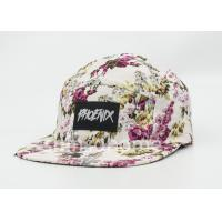 Woven Patch Snapback Printed Baseball Caps Cotton With Metal Buckle Manufactures