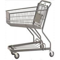70L Custom Shopping Basket Trolley Powder Coating Wire Basket Cart Manufactures