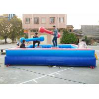 China Human Gladiator Bouncy Castle Joust Sport Games PVC Tarpaulin Material on sale