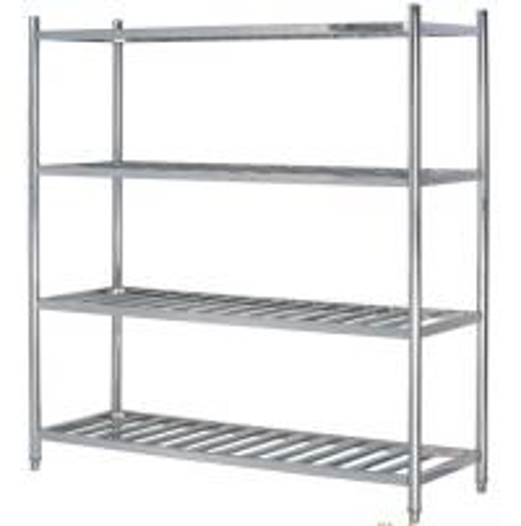 Stainless steel layer round tube shelves kitchen storage