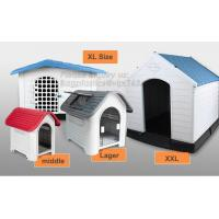 China outdoor kennel for large dog house Eco friendly dog kennels crates plastic houses, Large Dog Outdoor Plastic Dog House on sale