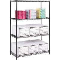 China 18 D X 42 W Office Supplies Storage Solution Epoxy Wire Shelving Unit on sale