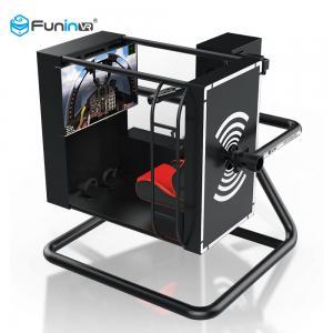 3 Glasses Headset Flight 9D VR Simulator Amusement Park Equipment Black Color Manufactures