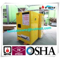 Yellow Fireproof Flammable Safety Cabinets 12 Gal / 45L With Adjustable Leveling Feet Manufactures