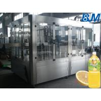China Electric Rotary 4 In 1 Pet Bottle Filling Machine For Apple / Orange Fruit Juice Plant on sale