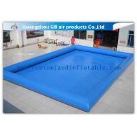 12 * 10m Summer Large Inflatable Swimming Pool For Adults Customized Manufactures