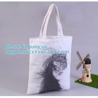 Custom Printed Organic shopping small tote drawstring cotton canvas bag,Eco-friendly printed grocery canvas shopping bag Manufactures