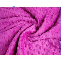 China Professional Warm Minky Dot Fabric Flame Retardant Customized Width on sale