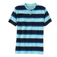 China custom mens strip rugby button t shirt on sale