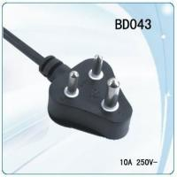 China South Africa 3 pin power cord with switch for desk lamp on sale