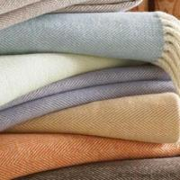 Quality Herringbone Woven Throws, Measures 127 x 152 + 10 x 2cm for sale