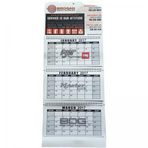 China 3 Fold Flexor Printing Art Paper Wall Calendars 128gram For New Year Gift on sale