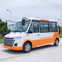 Fashion Orange White Electric Utility Carts , 30km/H Electric City Bus For Park Manufactures