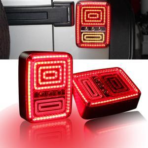 Rear LED Tail Lights Brake Reverse Turn Singal Lamp for Jeep Wrangler JK 07-16 Manufactures