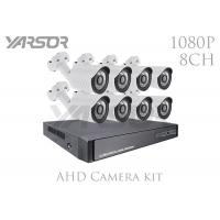 Weatherproof 1080P AHD Camera Kit 8 Channel AHD DVR Kit 2.0MP With IR Cut Manufactures