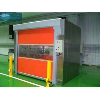 China Double Telecontroller 4000mm Width PVC Roller Shutter Doors on sale