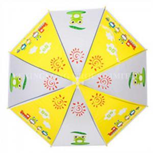China Promotional Auto Open Kids Rain Umbrellas With Heat Transfer Printing on sale