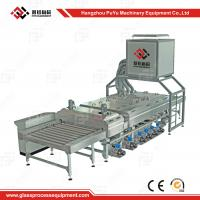 Small Construction PLC Glass Washing Machine After Glass Grinding Manufactures