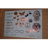 Makeup Bracelets Metallic Temporary Tattoo passed En71 and REACH Manufactures