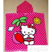 Full Reactive Printing Personalized Hooded Poncho Towels Azo Free Manufactures
