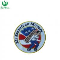 Handmade Iron On Small Run Embroidered Patches For Garments 3 Inches Size Manufactures