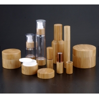 China 100ml 94mm Height  bamboo Cosmetic Packaging Container on sale