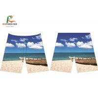Quality Seaside Boat Pattern Plus Size Board Shorts Peach Skin Fabric Pantone Color for sale