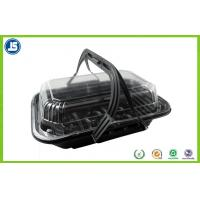 Plastic Black Hinged Clamshell Blister Packaging Takeaway Boxes for sale