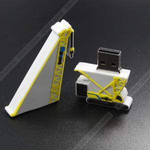 Cute crane Rubber Cartoon USB Flash Drive Blue 32GB Personalized  usb disk creative gift Manufactures