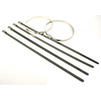 China High tensile strength outdoor long  #304 Stainless steel cable tie for cables, poles on sale