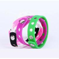Promotional holes style  Silicone Rubber Bracelets , Colored Rubber Bracelets Metal Button Manufactures