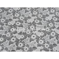 White Nylon Spandex Stretch Lace Fabric With Flower Design For Garment SYD-0186 Manufactures