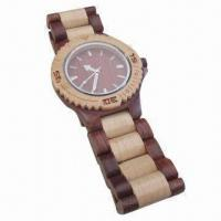 Natural wood and bamboo watch, Japanese movement Manufactures