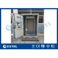 Quality Galvanized Steel Thermostatic Outdoor Telecom Cabinet , Outdoor Electronics Cabinet for sale