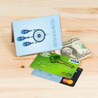 Eco-Friendly Plastic Card Holder Credit Card Covers Personalized Card Case