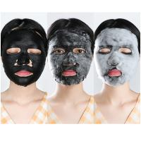 Clear Pores Mud Face Mask Dense Delicate Bubbles With Bamboo Charcoal Film Cloth Manufactures