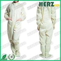 Unisex Design ESD Protective Clothing / Anti Static Overalls For Electronic Industry Manufactures