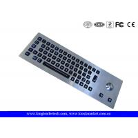 LED Backlight Industrial Stainless Steel Keyboard with Trackball , 64 Keys Manufactures
