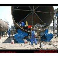 Automatic Vessel Pipe Welding Rotator / Welding Roller Beds With Steel Roller Manufactures