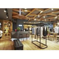 Casual Style Men Clothing Store Fixtures / Store Display Furniture For Retail Shop Manufactures