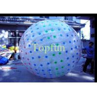 China Colour D-ring Inflatable Zorb Ball , Park Fun Bubble Zorb Ball on sale