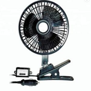 Black Car Cooling Fan Plastic Material 12v / 24v With Half Safety Metal Guard Manufactures
